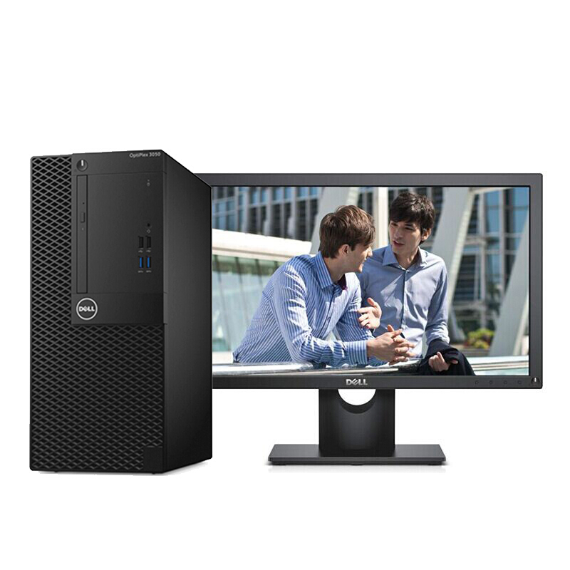 戴尔(Dell)OptiPlex 3050 Tower 000508台式电脑(I3-6100 4GB 1TB DVDRW Win10 H 键鼠 3年上门服务 E2216H21.5寸)