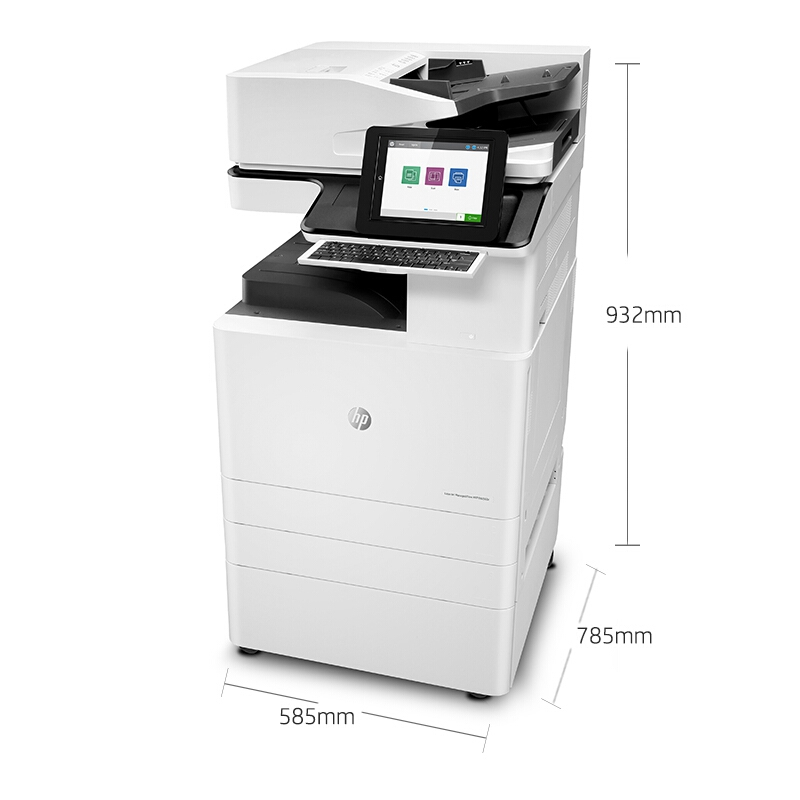 惠普(HP)HP LaserJet Managed Flow MFP E82560z黑白复印机A3(台)